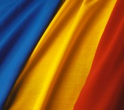 Flag of Romania --- Image by © Royalty-Free/Corbis
