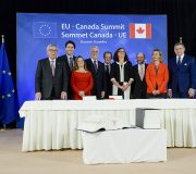 Martin SCHULZ - EP President during the EU-Canada Summit in the European Council in Brussels