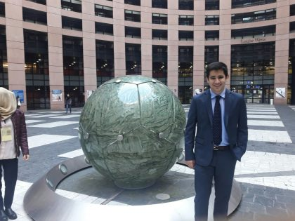 Asier at the European Parliament